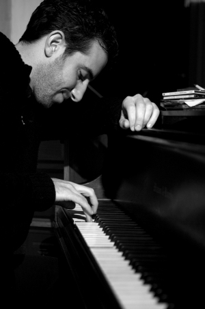 Aaron Goldberg at piano