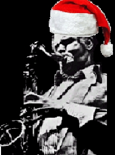 Dexter Gordon with Santa Hat